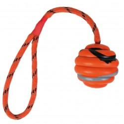 Balle ondulée avec corde 6cm 30cm