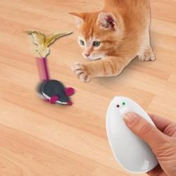 Jouet chat souris avec télécommande