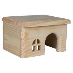 Maison en bois pour rongeur, 28X16X18 cm