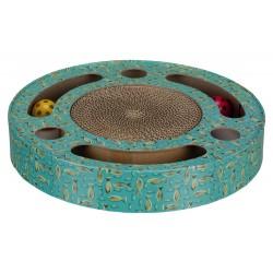 Griffoir tambour avec jouet 33cm bleu
