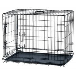 Cage de transport pliable noir chien 116X77X86 cm