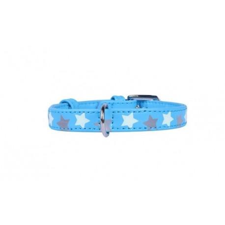 Collier cuir Glamour avec étoiles phosphorescentes Collar