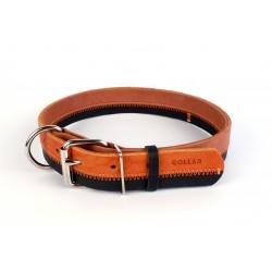 Collier cuir noir/marron ZigZag Collar