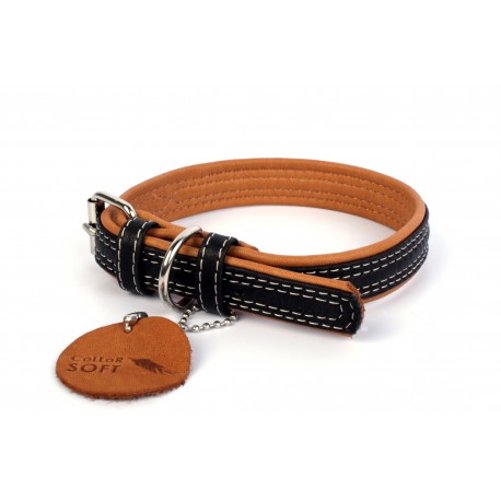 Collier cuir noir Soft Collar