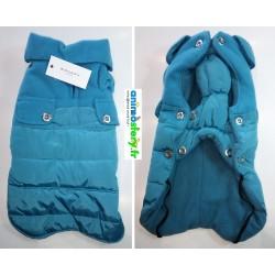Manteau doudoune Beside bleu Wouapy