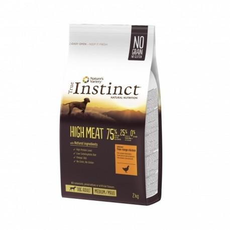Croquettes True Instinct High meat pour chien 12Kg