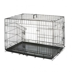 Cage de transport pliable chien 77X47X54cm