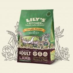 Croquettes sans céréale pour chien à l'agneau 1 Kg Lily's kitchen