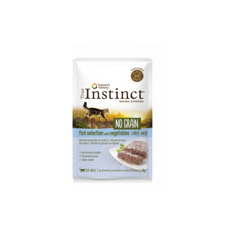 Patée true instinct no grain poisson pour chat 70g