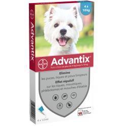 Advantix chien 4-10 Kg 4 pipettes