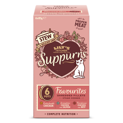 Multipack Favorite suppurrs pour chat 6 X 85g Lily's Kitchen
