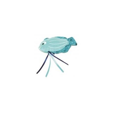 Jouet peluche pour chat poisson bleu BOB