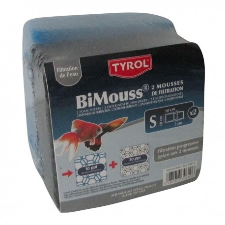 Bimouss bleu/noir 10 X 10 X 5 cm