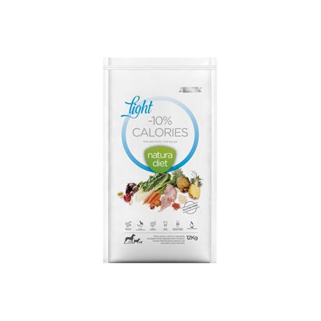 Croquettes Natura Diet Light -10% calories 12 Kg