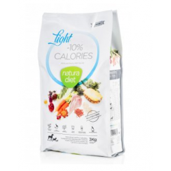 Croquettes Natura Diet Light -10% calories 3 Kg