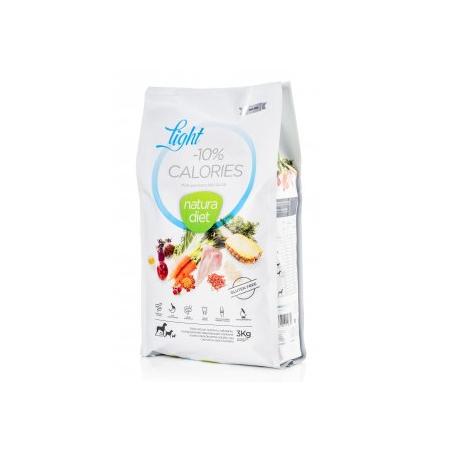 Croquettes Natura Diet Light -10% calories 3 Kg