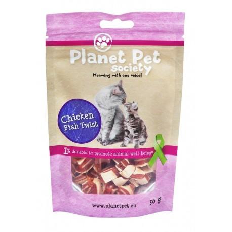 Bouchées poulet poisson pour chat Planet Pet 30g