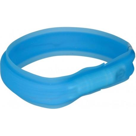 Flash collier lumineux USB bleu pour poils longs