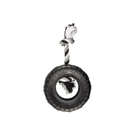 Jouet à tirer pneu et corde chien Gladiator