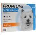 Frontline chien 2-10 Kg 4 pipettes