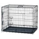 Cage de transport pliable chien 93X62X69 cm