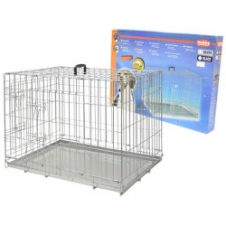 Cage de transport pliable zinc chien 116X77X86cm