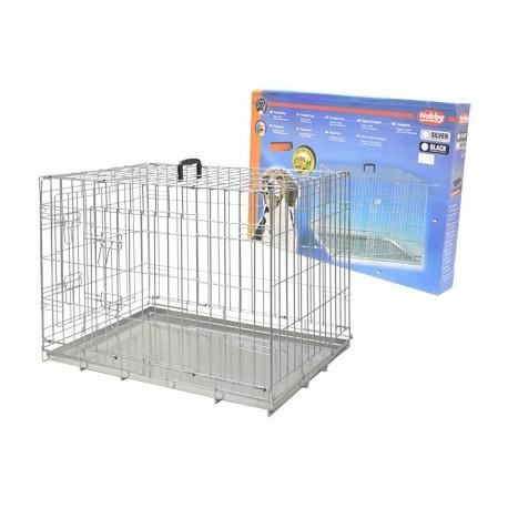 Cage de transport pliable zinc chien 116X77X86cm