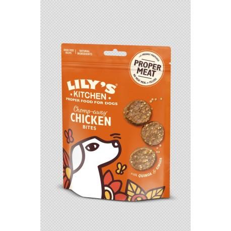 Mini bouchées poulet, quinoa et gingembre 70g Lily's Kitchen
