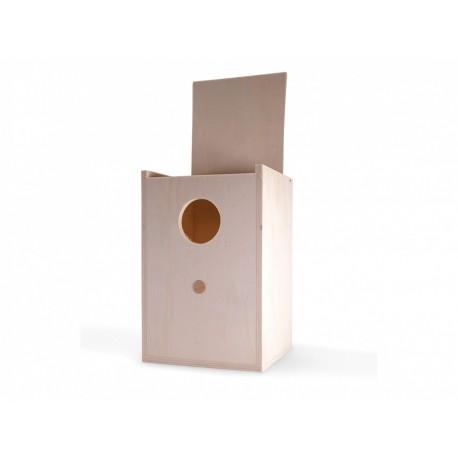 Nid en bois perruche 15x14.5x22.2 cm