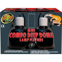 Mini double plafonnier mini combo Deep dome lampe fixture Terrarium Zoomed