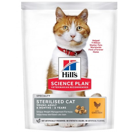 Feline sterilised cat young poulet Hill's 7 Kg