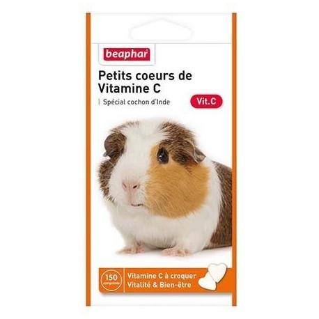 Petits coeurs de vitamines C pour cochon d'inde