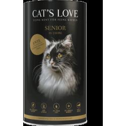 Croquettes pour chat senior au canard Cat's love 1 Kg