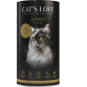 Croquettes pour chat senior au canard Cat's love 1 Kg
