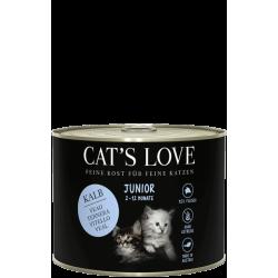 Aliment en pâtée pour chaton au veau Cat's love 200g