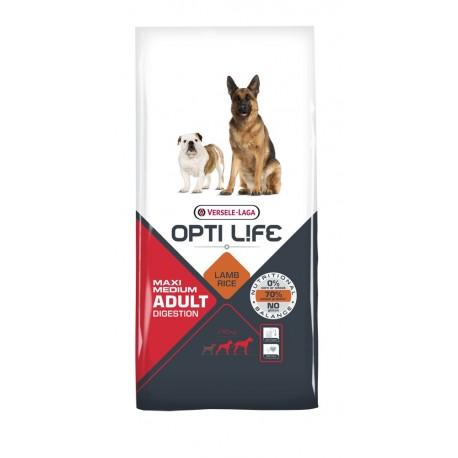 Opti life Digestion Medium & Maxi Versele Laga - croquettes pour chien sensible de + de 10 kg - sac de 12.5 Kg