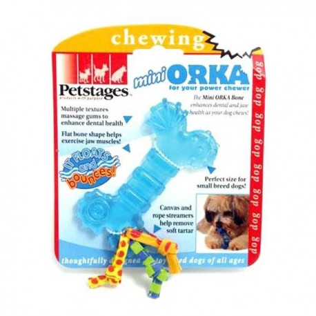Jouet mini Orka bone bleu Petstages