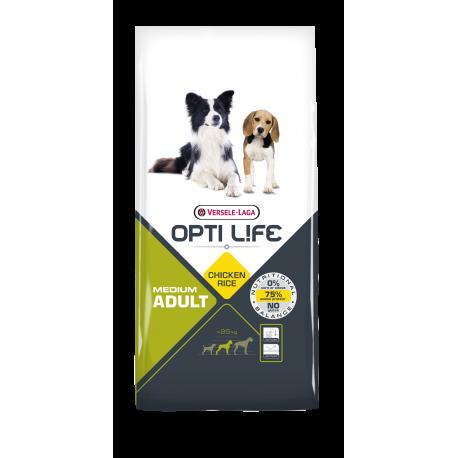 Opti-life Adult Medium Versele Laga 12.5 Kg