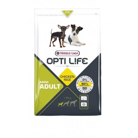 Opti life Adult Mini Versele Laga - croquettes pour chien de moins de 10 kg - sac de 2.5 Kg