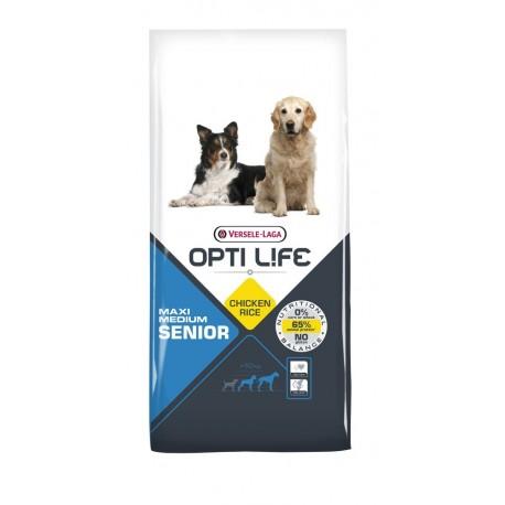 Opti life Senior medium & maxi Versele Laga - croquettes pour chien de + de 7 ans - sac de 12.5 Kg