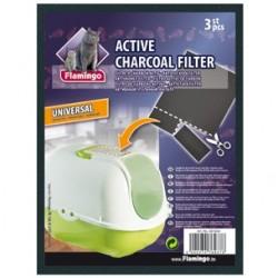 Filtre charbon universel pour litière chat X 3