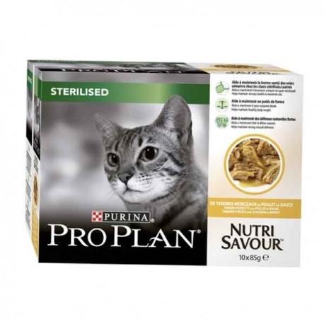 Pro plan Nutrisavour sterilised poulet 10X85g