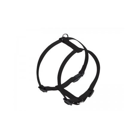Harnais nylon noir 10mm 14-20 cm