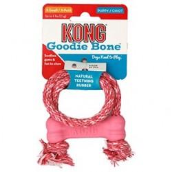 Kong puppy goodie bone +corde - jouet pour chiot