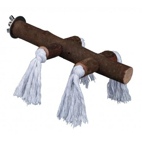 Perchoir avec corde 25cm 25mm
