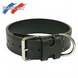Collier cuir double 75X48 noir
