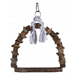 Jouet oiseau anneau balançoire en bois