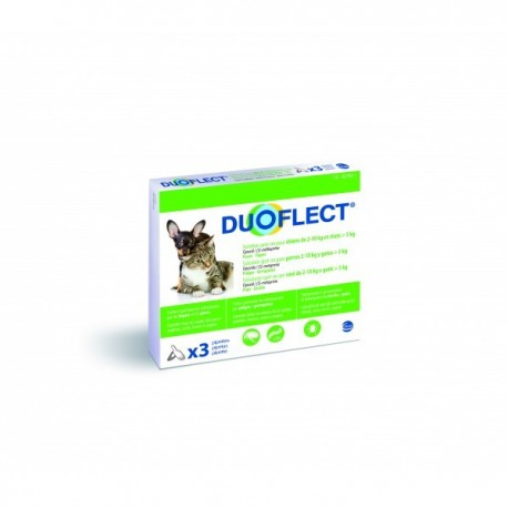 Pipettes X 3 Duoflect chien 2-10 Kg / grand chat
