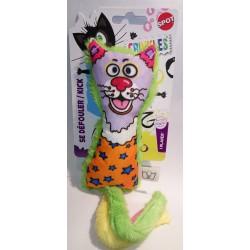 Jouet chat catnip&crinkle kick S