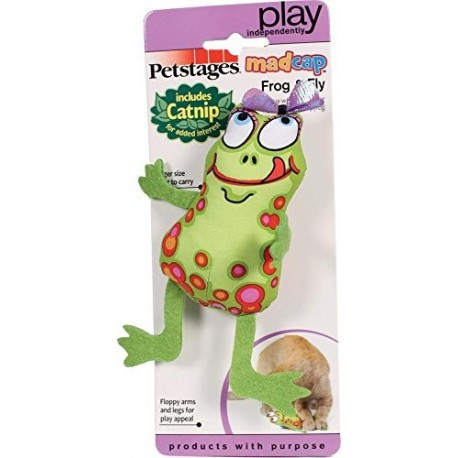 Petstages Madcap Frog & fly - jouet pour chat